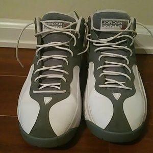 premium selection 03919 1e287 nike air jordan Shoes - Men s Nike Team Jordan 1 grey white sneakers